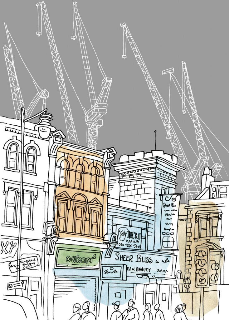Cranes - Construction of Dalston Square
