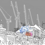 Dalston Cranes - Construction of Dalston Square