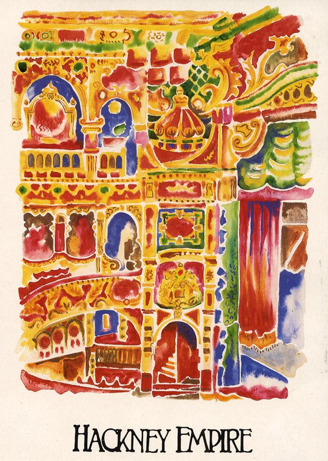 Watercolour of Hackney Empire interior