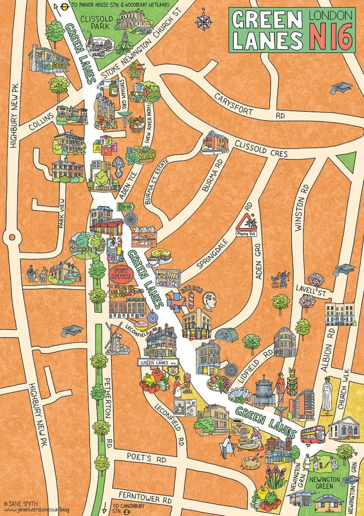 Map for Green Lanes Traders' and Residents' Association