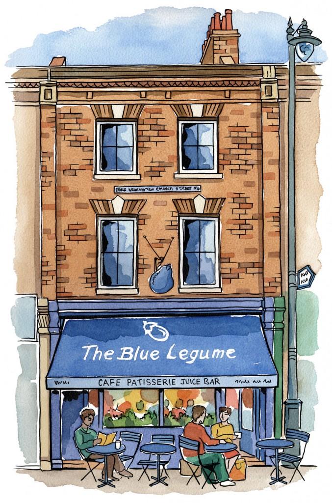 Blue Legume Restaurant, Stoke Newington, London N16