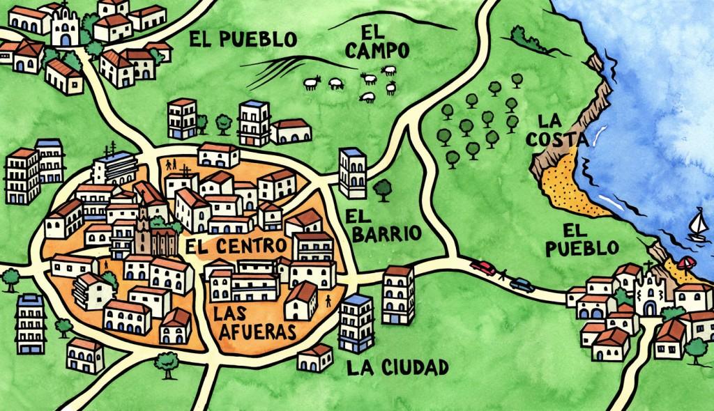 Educational map for Harcourt Publishing