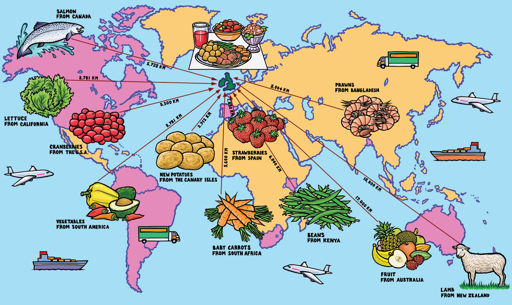 ×  in illustrated maps. world food map  jane smith's blog