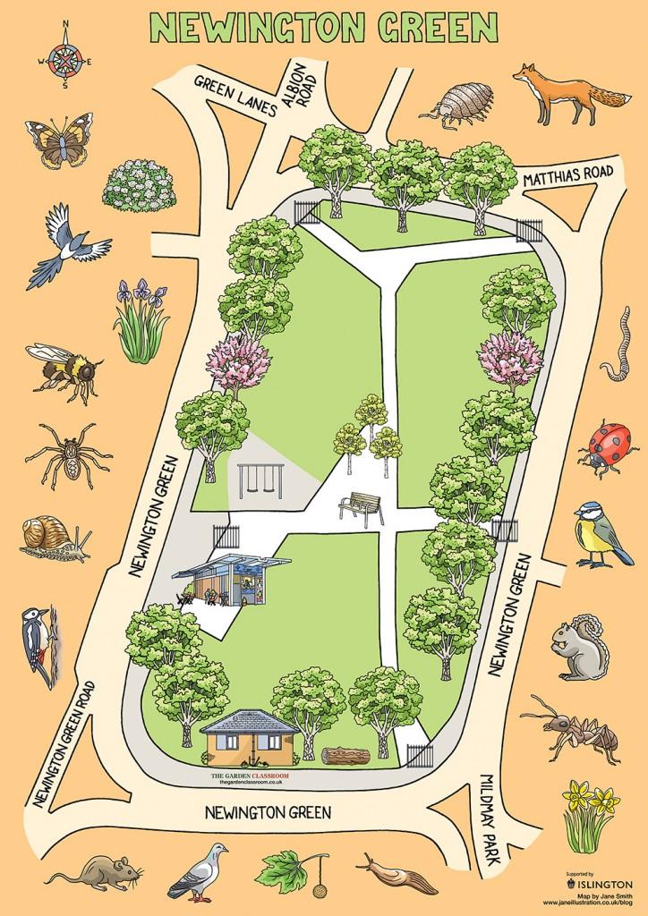 Newington Green trees and wildlife for The Garden Classroom.