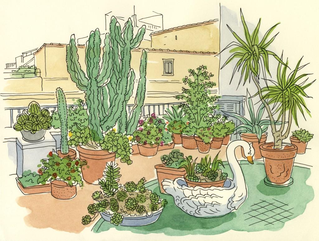 Garden terrace, Naples