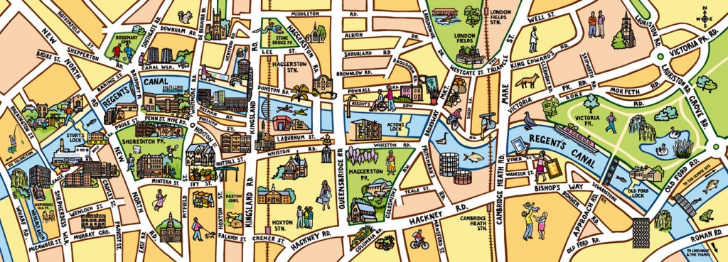 Healthy walking map for Shoreditch Trust/NHS