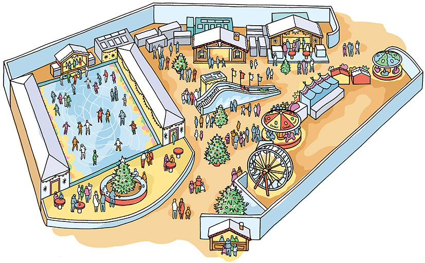 Proposal drawing for a Winter Fair