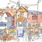 Hastings Old Town, East Sussex, UK