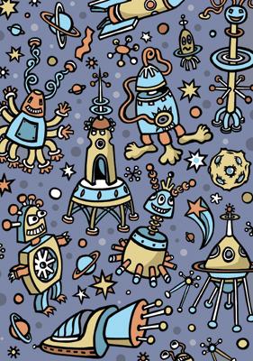 Aliens - sample for children's publishing