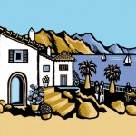 Mediterranean scene for cookery book - Quarto Publishing