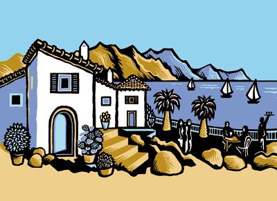 Mediterranean scene for cookery book - Quarto Publishing
