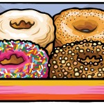 Doughnut cover illustration for Reaktion Books - Edible Series