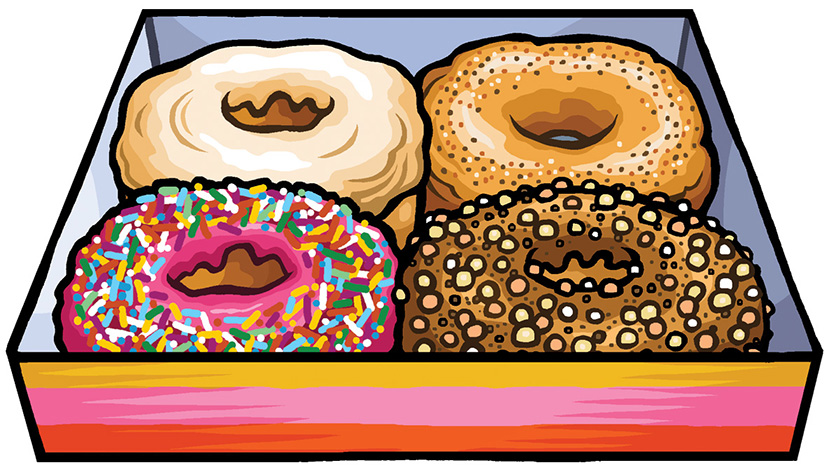 Doughnut cover illustration for Reaktion Books - Edible Series
