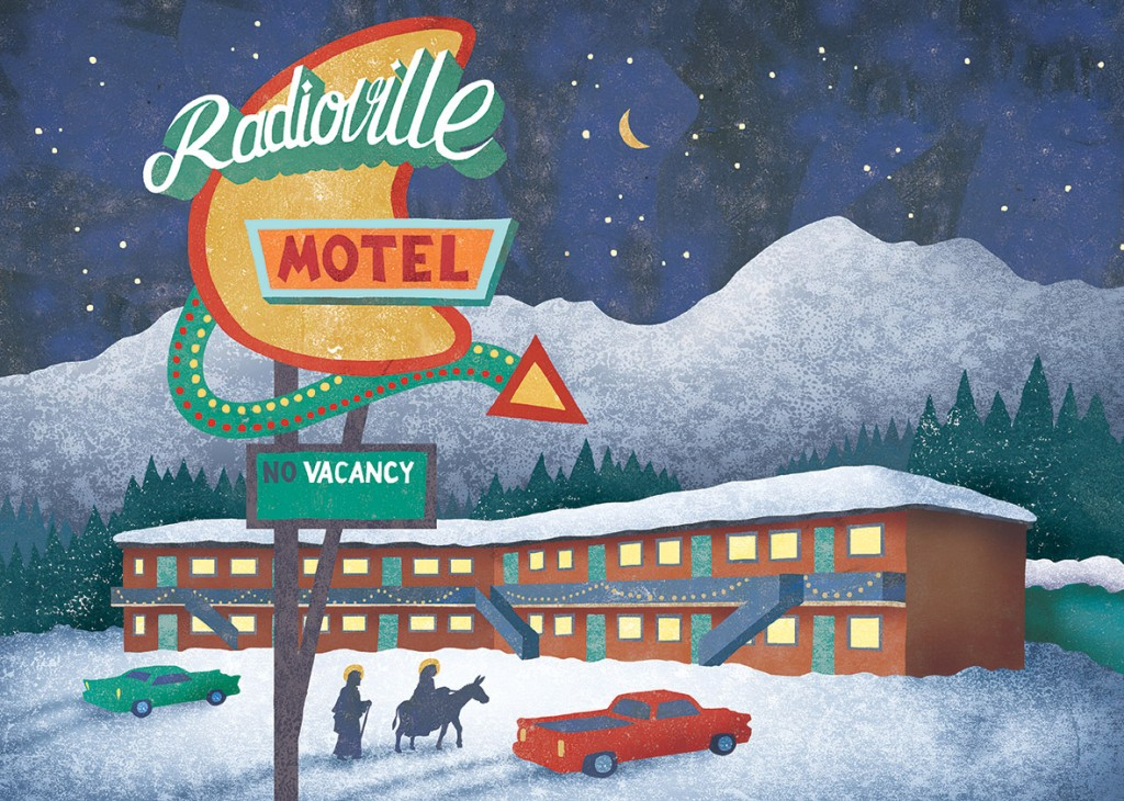 Christmas card for Radioville Advertising