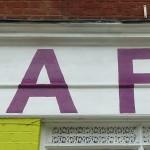 Sign for Coffee Corner, London N16