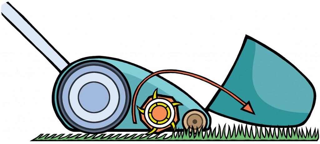 Mowing diagram for Gardeners' World Magazine