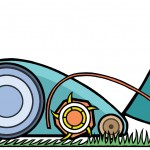 Mowing diagram for Gardeners' World Magazine