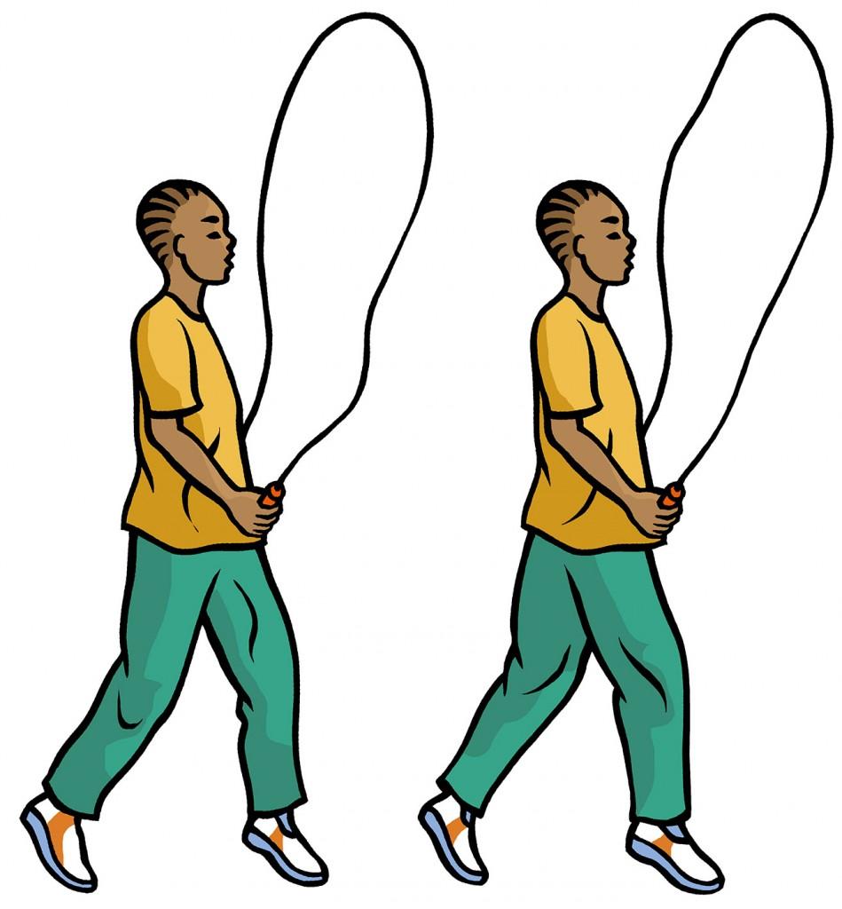 Jump rope illustration for Haldane Mason Publishing